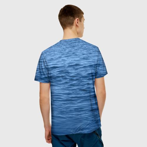 Мужская 3D футболка с принтом Балтийский флот, вид сзади #2