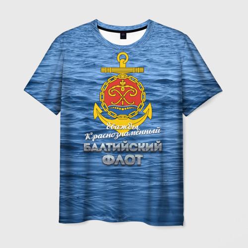 Мужская 3D футболка с принтом Балтийский флот, вид спереди #2