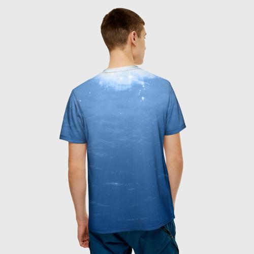 Мужская 3D футболка с принтом БЧ-3 Минно-торпедная, вид сзади #2