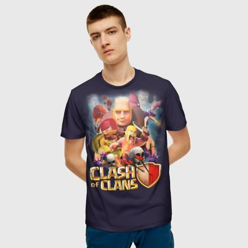 Мужская 3D футболка с принтом Clash of clans, фото на моделе #1