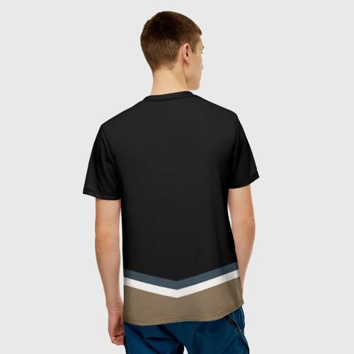 Мужская 3D футболка с принтом Vegas Golden Knights 2017, вид сзади #2