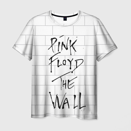 Мужская 3D футболка с принтом The Wall, вид спереди #2