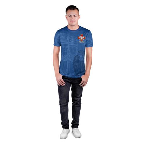 Мужская футболка 3D спортивная с принтом ФСО, вид сбоку #3