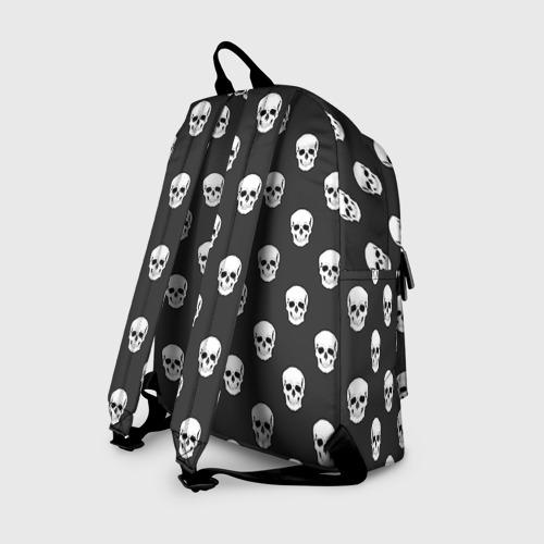 Рюкзак 3D с принтом Черепа, вид сзади #1