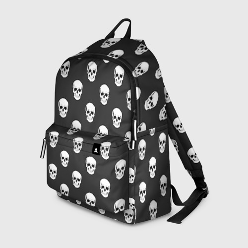 Рюкзак 3D с принтом Черепа, вид спереди #2