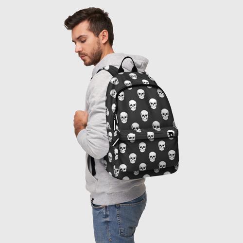 Рюкзак 3D с принтом Черепа, фото на моделе #1