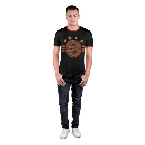 Мужская футболка 3D спортивная с принтом Бавария Мюнхен, вид сбоку #3