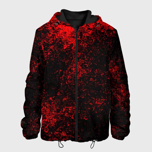 Мужская куртка 3D Брызги красок(red style)