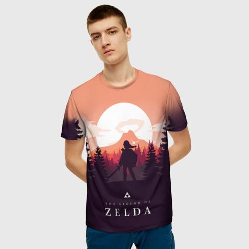 Мужская 3D футболка с принтом The Legend of Zelda, фото на моделе #1