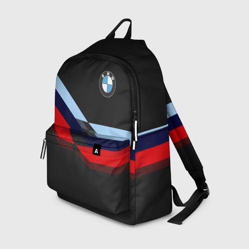 Рюкзак 3D с принтом BMW | БМВ, вид спереди #2