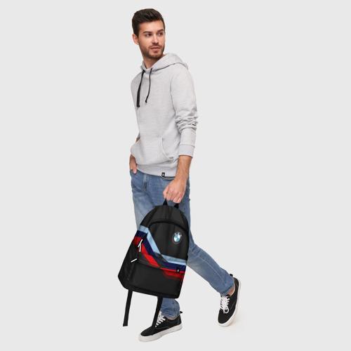 Рюкзак 3D с принтом BMW | БМВ, фото #5