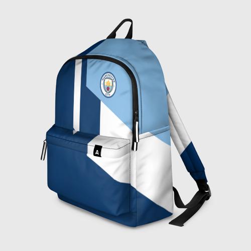 Рюкзак 3D с принтом Manchester city 2018 #6, вид спереди #2