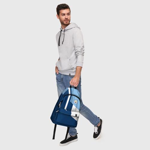 Рюкзак 3D с принтом Manchester city 2018 #6, фото #5