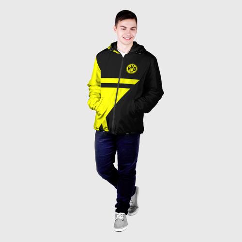 Мужская куртка 3D с принтом BORUSSIA, фото на моделе #1