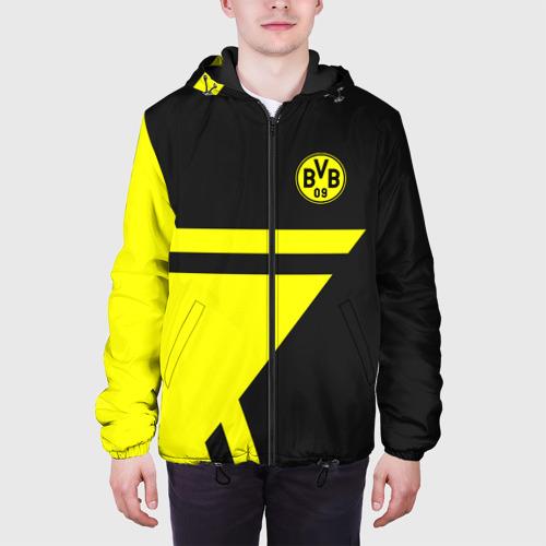 Мужская куртка 3D с принтом BORUSSIA, вид сбоку #3