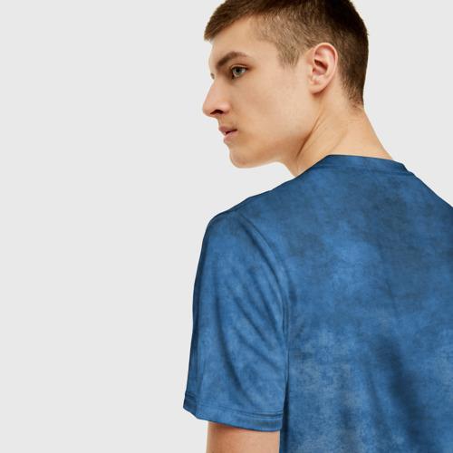 Мужская 3D футболка с принтом Shark, вид сзади #2
