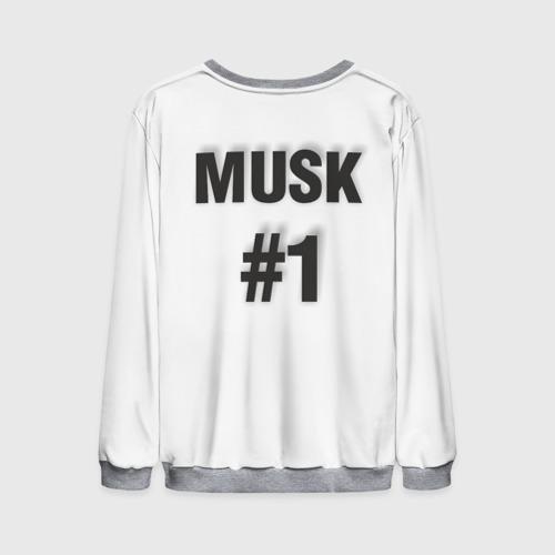 Мужской 3D свитшот с принтом Илон Маск, вид сзади #1