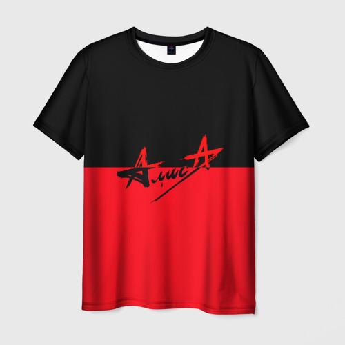 Мужская 3D футболка Флаг группа Алиса