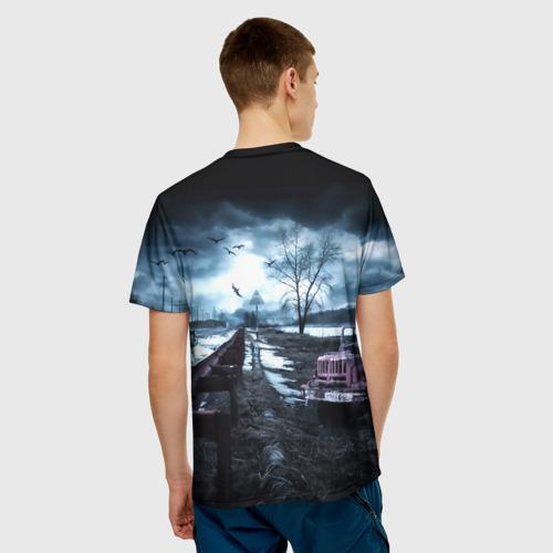 Мужская 3D футболка с принтом STALKER - АНДРЕЙ, вид сзади #2