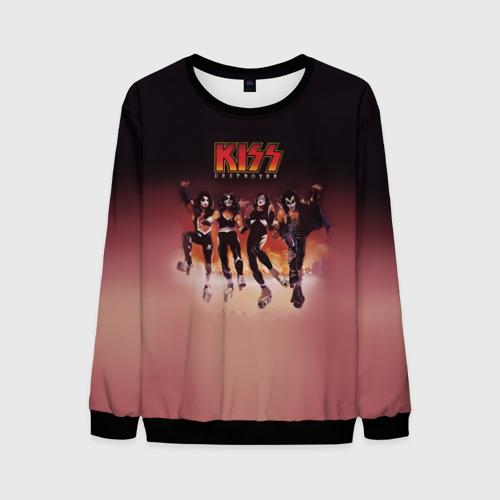 Мужской 3D свитшот с принтом Группа Kiss, вид спереди #2