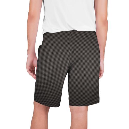 Мужские шорты 3D с принтом Carbon-2, вид сзади #1