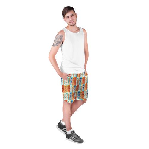 Мужские шорты 3D с принтом Бесконечно лето3, фото на моделе #1