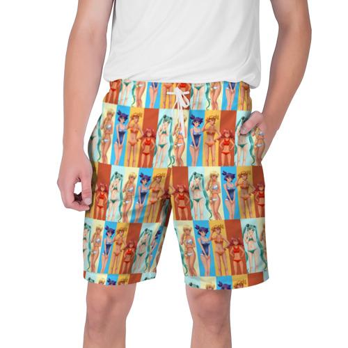 Мужские шорты 3D с принтом Бесконечно лето3, вид спереди #2