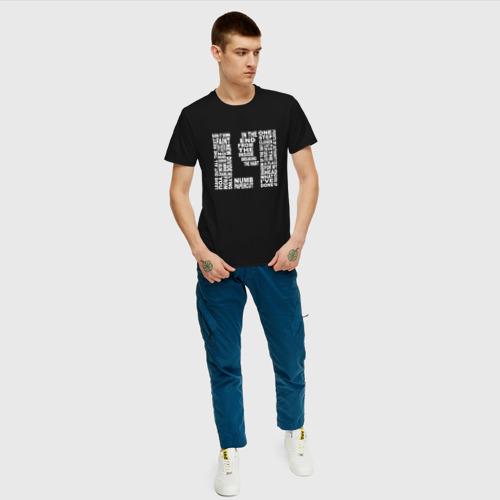 Мужская футболка с принтом LP - Linkin Park, вид сбоку #3