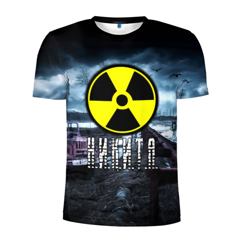 Мужская футболка 3D спортивная STALKER - НИКИТА