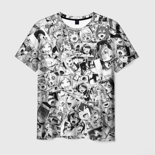 Мужская 3D футболка Ahegao