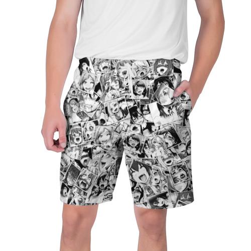 Мужские шорты 3D Ahegao faces pattern