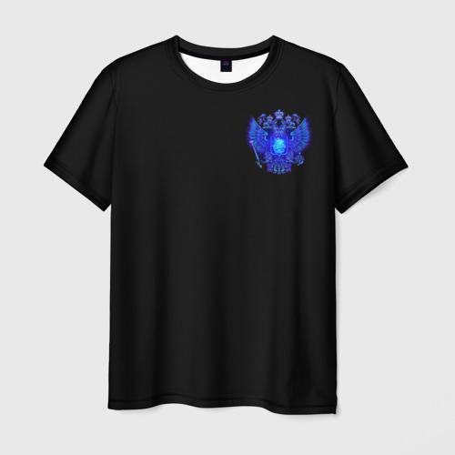Мужская 3D футболка Герб России