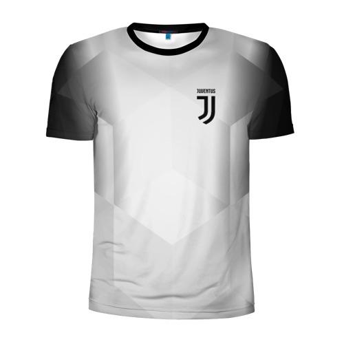 Мужская футболка 3D спортивная с принтом JUVENTUS / ЮВЕНТУС, вид спереди #2