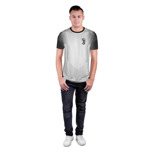 Мужская футболка 3D спортивная с принтом JUVENTUS / ЮВЕНТУС, вид сбоку #3