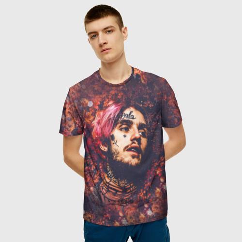 Мужская 3D футболка с принтом Cry baby, фото на моделе #1