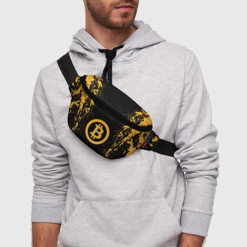 Поясная сумка 3D с принтом БИТКОИН   BITCOIN, фото на моделе #1