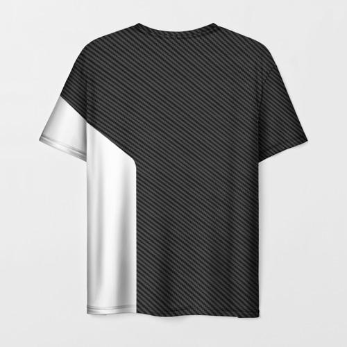 Мужская 3D футболка с принтом BMW CARBON | БМВ КАРБОН, вид сзади #1