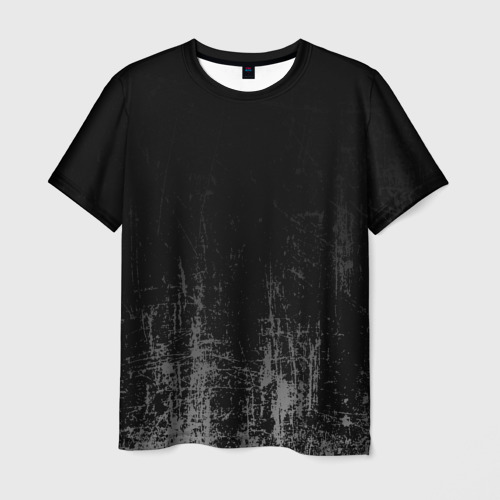 Мужская 3D футболка Black Grunge
