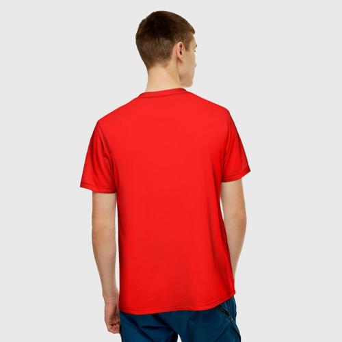 Мужская 3D футболка с принтом Сделано в СССР 1969, вид сзади #2