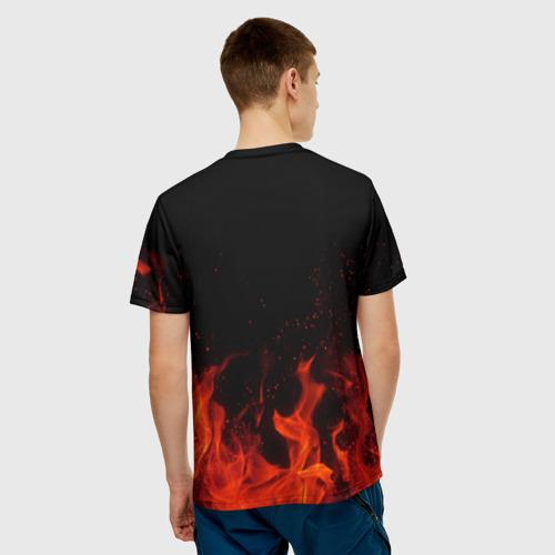 Мужская 3D футболка с принтом Рожденный в СССР, вид сзади #2