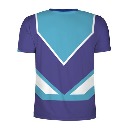 Мужская футболка 3D спортивная с принтом Макс - банка сгущенки, вид сзади #1
