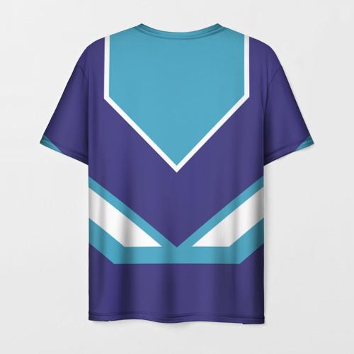 Мужская 3D футболка с принтом Сергей - банка сгущенки, вид сзади #1