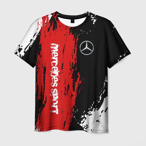Мужская 3D футболка MERCEDES-BENZ AMG | МЕРСЕДЕС СПОРТ
