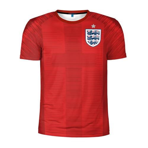 Мужская футболка 3D спортивная с принтом England away WC 2018, вид спереди #2