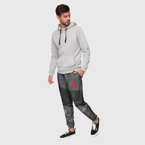 Мужские брюки 3D с принтом MITSUBISHI SPORT, фото на моделе #1