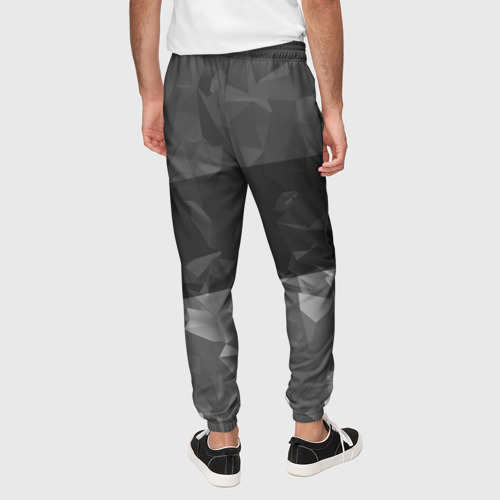 Мужские брюки 3D с принтом MITSUBISHI SPORT, вид сзади #2