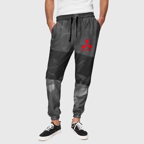 Мужские брюки 3D с принтом MITSUBISHI SPORT, вид сбоку #3