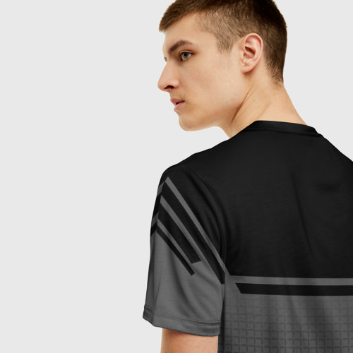 Мужская 3D футболка с принтом TOYOTA | ТОЙОТА, вид сзади #2