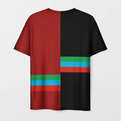 Мужская 3D футболка с принтом Dagestan, вид сзади #1