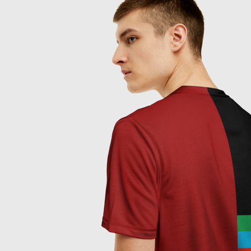 Мужская 3D футболка с принтом Dagestan, вид сзади #2